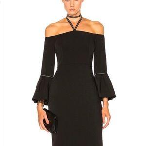 Alexis Amelie off-shoulder Black Cocktail Dress